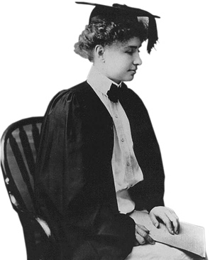 Home helens gifts portrait of helen keller in her graduation gown thecheapjerseys Choice Image